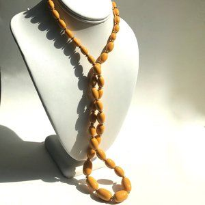 Lucite or Similar High Quality Beaded Necklace